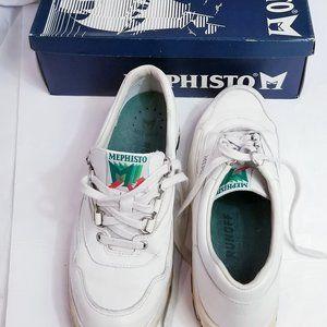 Mephisto Shoe Runoff White Leather Sneaker USA 9.5